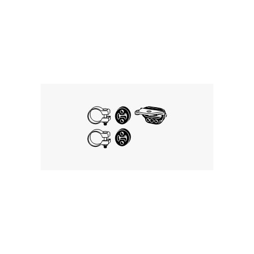 Mounting Kit, exhaust system HJS 82 32 3564