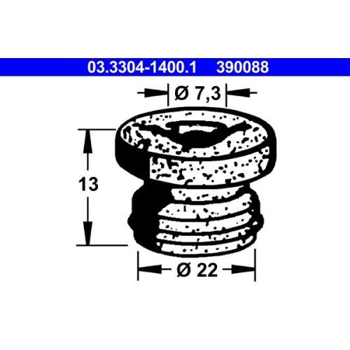 Stopfen, Bremsflüssigkeitsbehälter ATE 03.3304-1400.1 BMW OPEL VAUXHALL VAG