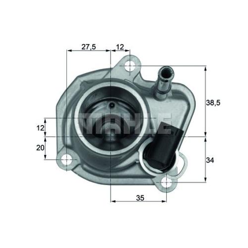 Thermostat, coolant BEHR TI 29 87 CHRYSLER MERCEDES-BENZ