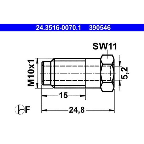 Überwurfschraube ATE 24.3516-0070.1