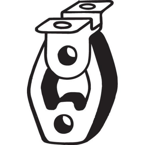 BOSAL Anschlagpuffer, Schalldämpfer 255-161