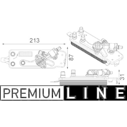 Ölkühler, Automatikgetriebe MAHLE CLC 90 000P BEHR *** PREMIUM LINE *** BMW