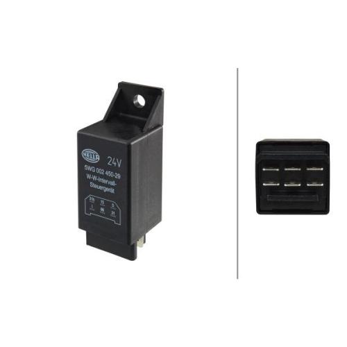 Relais, Wisch-Wasch-Intervall HELLA 5WG 002 450-291 DAF IVECO MAN FAUN TATA JCB