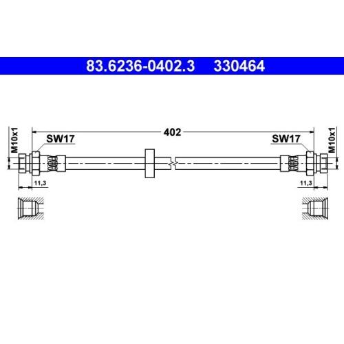 ATE Bremsschlauch 83.6236-0402.3