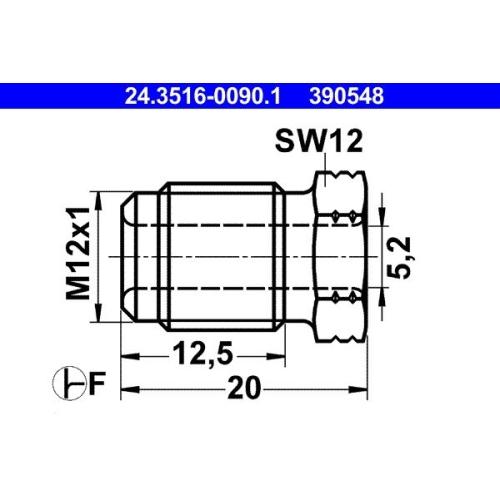 Überwurfschraube ATE 24.3516-0090.1