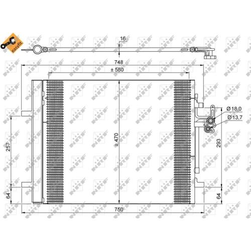 Kondensator, Klimaanlage NRF 35884 EASY FIT VOLVO LAND ROVER
