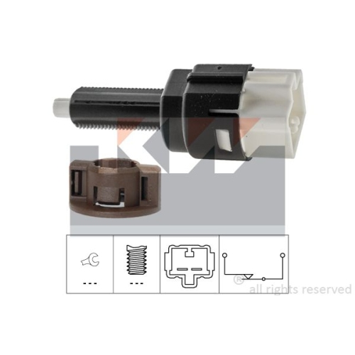 Brake Light Switch KW 510 178 Made in Italy - OE Equivalent CITROËN DAIHATSU