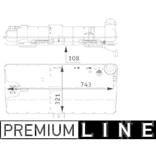 Expansion Tank, coolant MAHLE CRT 47 000P BEHR *** PREMIUM LINE *** MAN