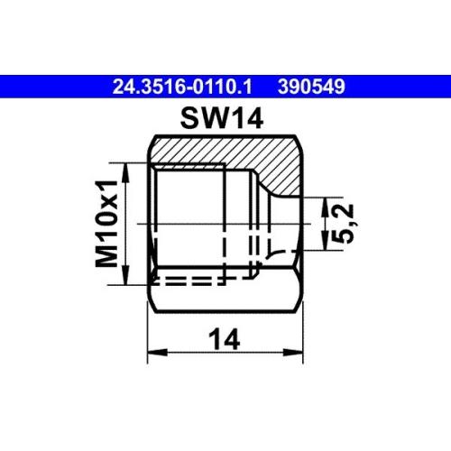 ATE Überwurfmutter 24.3516-0110.1