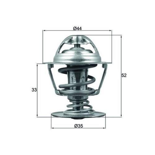 Thermostat, coolant MAHLE TX 173 88D CITROËN PEUGEOT