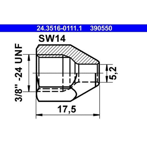 Überwurfmutter ATE 24.3516-0111.1
