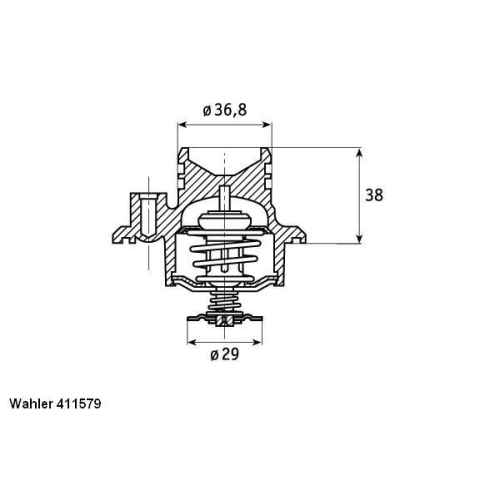 WAHLER Thermostat 411579.92D