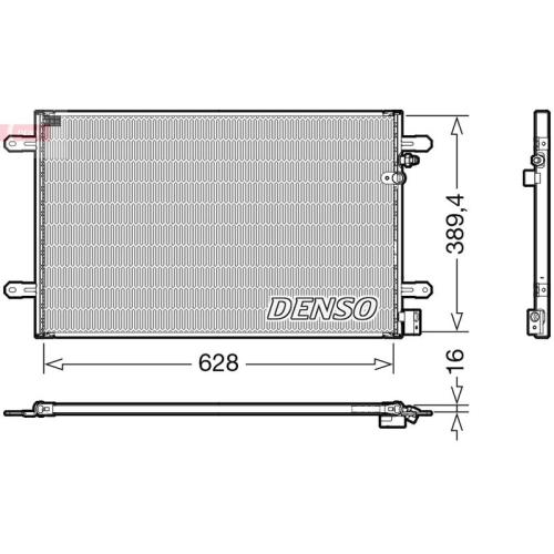 Kondensator, Klimaanlage DENSO DCN02037 VAG