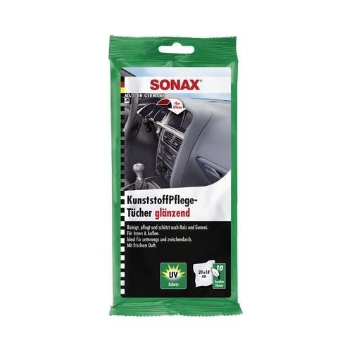SONAX Kunststoffpflegetücher glänzend 10 Stück 04151000