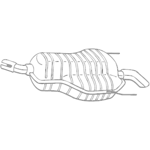 Endschalldämpfer BOSAL 185-469 OPEL VAUXHALL