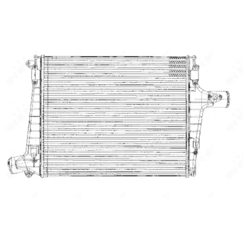 Intercooler, charger NRF 30170 AUDI