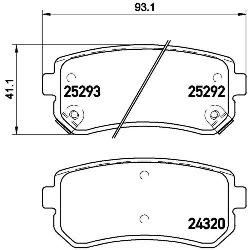 BREMBO Brake Pad Set, disc brake P 30 051