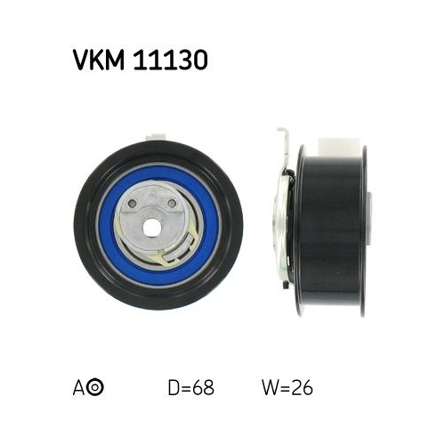 Spannrolle, Zahnriemen SKF VKM 11130 AUDI SEAT SKODA VW