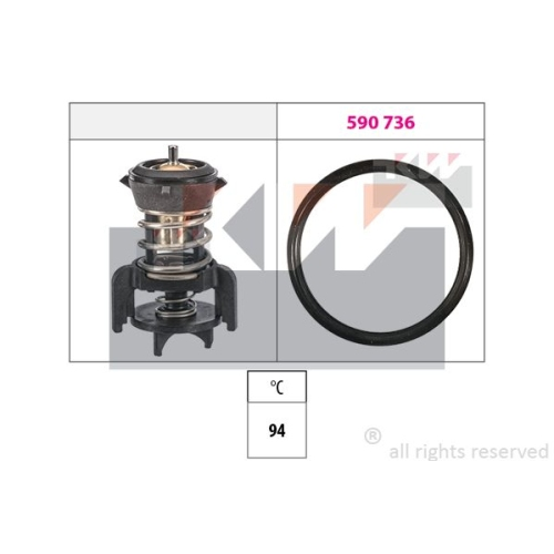 Thermostat, coolant KW 580 933 Made in Italy - OE Equivalent AUDI MAN SEAT SKODA