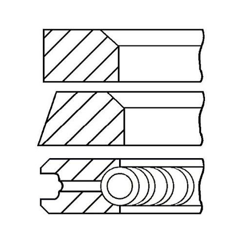 Piston Ring Kit GOETZE ENGINE 08-117900-00 MERCEDES-BENZ