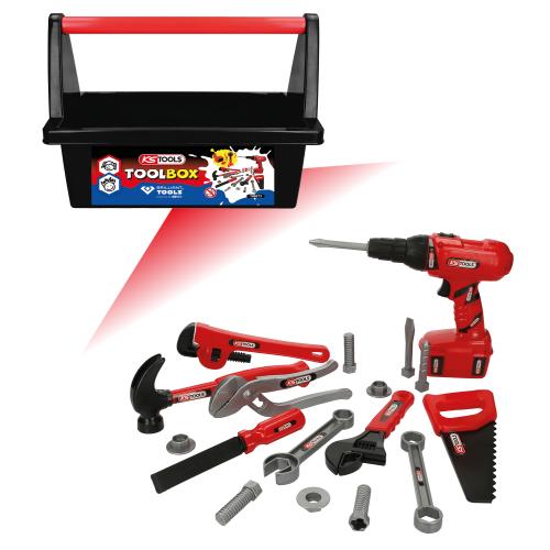 KS TOOLS Spielzeug Werkzeug-Box für Kinder 100073 19-teilig