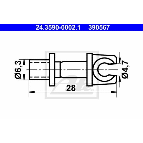Halter, Bremsleitung ATE 24.3590-0002.1