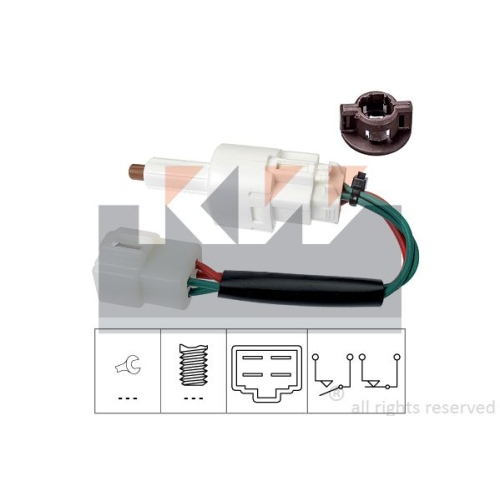 Brake Light Switch KW 510 273 Made in Italy - OE Equivalent OPEL SUZUKI VAUXHALL
