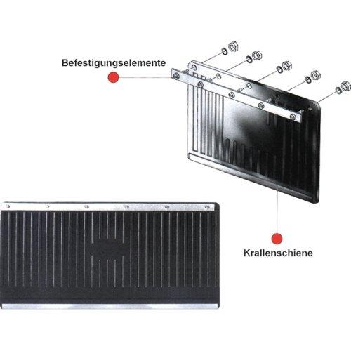 SCHOENEK 410007 LKW-Schmutzfänger, 2-teilig, schwarz, 60 cm x 30 cm
