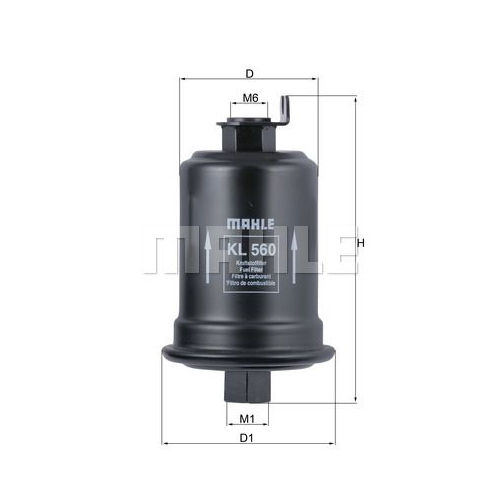 Fuel filter MAHLE KL 560 TOYOTA