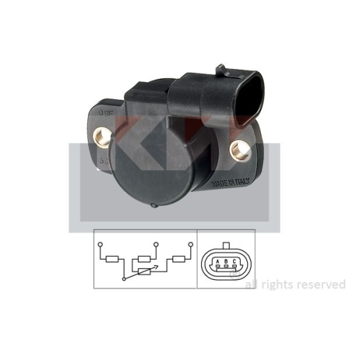 Sensor, throttle position KW 495 001 Made in Italy - OE Equivalent CITROËN FIAT