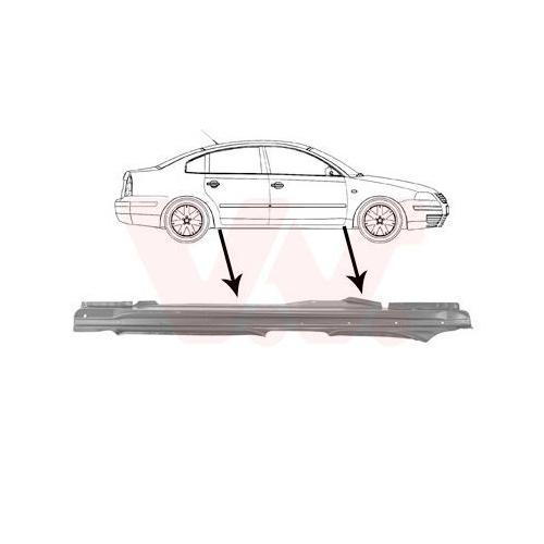 Einstiegblech VAN WEZEL 5836104 VW