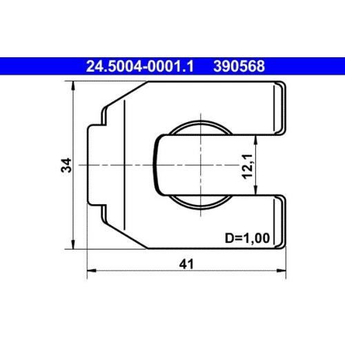 Halter, Bremsschlauch ATE 24.5004-0001.1 DAF FIAT MAGIRUS-DEUTZ MAN OPEL VAG