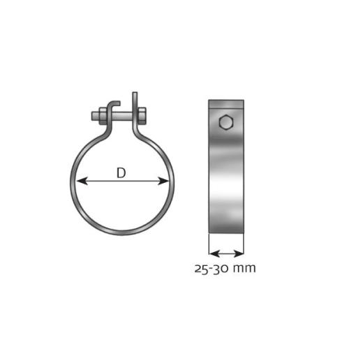 Klemmstück, Abgasanlage DINEX 99789 LEYLAND MAN MERCEDES-BENZ RENAULT BRISTOL