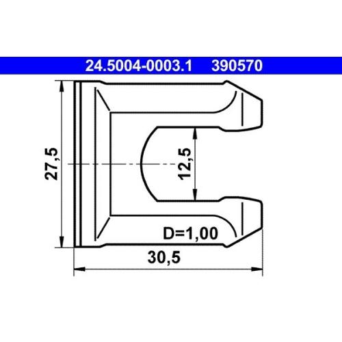 Halter, Bremsschlauch ATE 24.5004-0003.1