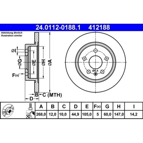 ATE Bremsscheibe 24.0112-0188.1