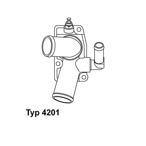 Thermostat, coolant BorgWarner (Wahler) 4201.92D OPEL VAUXHALL GENERAL MOTORS