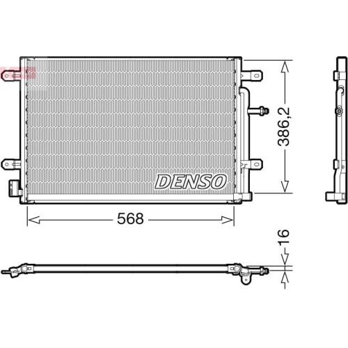 Kondensator, Klimaanlage DENSO DCN02038 VAG