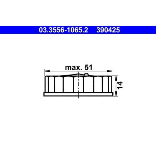 Verschluss, Bremsflüssigkeitsbehälter ATE 03.3556-1065.2 PORSCHE