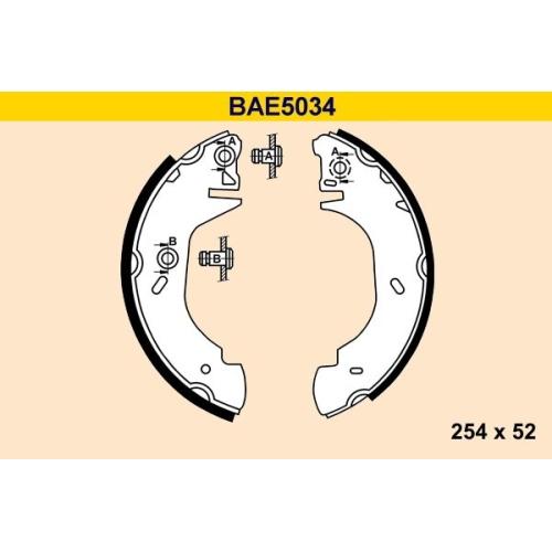 Bremsbackensatz BARUM BAE5034 FORD