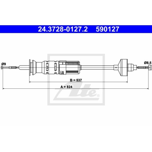 ATE Clutch Cable 24.3728-0127.2