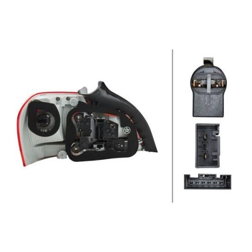 Combination Rearlight HELLA 2VP 010 756-221 BMW