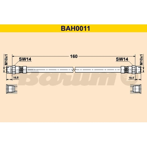 BARUM Brake Hose BAH0011