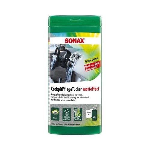 SONAX Cockpitpflegetücher Matteffect Green Lemon Box 25 Stück 04128000