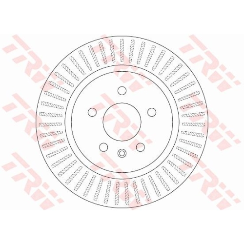 Brake Disc TRW DF6371 OPEL VAUXHALL