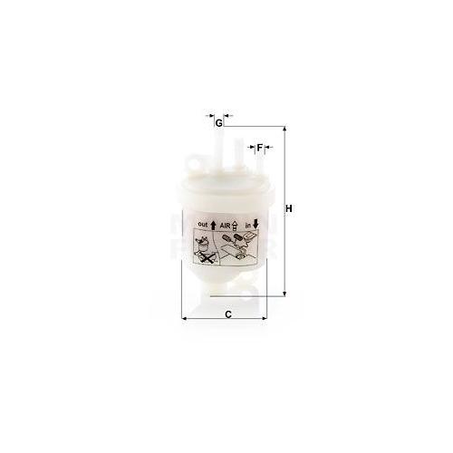 Kraftstofffilter MANN-FILTER WK 53 BOMAG AMMANN
