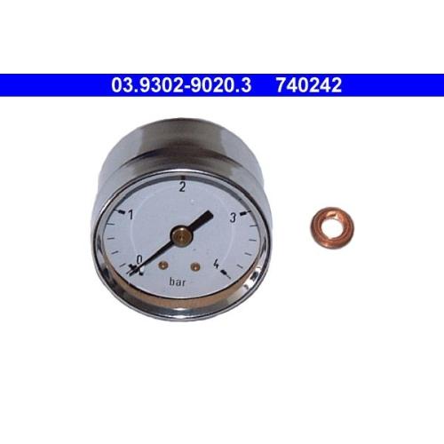Manometer, Füll-/Entlüftungsgerät (Bremshydraulik) ATE 03.9302-9020.3