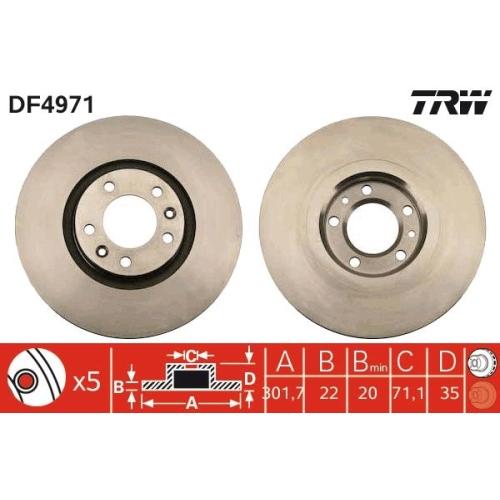 TRW Bremsscheibe DF4971