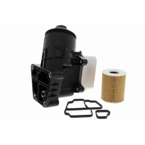 Housing, oil filter VAICO V10-4437 Original VAICO Quality SEAT SKODA VW VAG