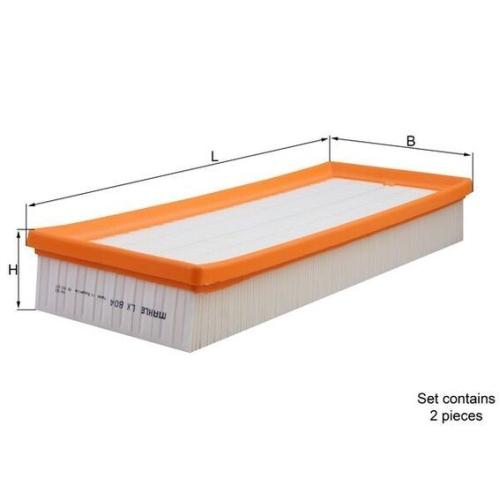Luftfilter MAHLE LX 804/S MERCEDES-BENZ