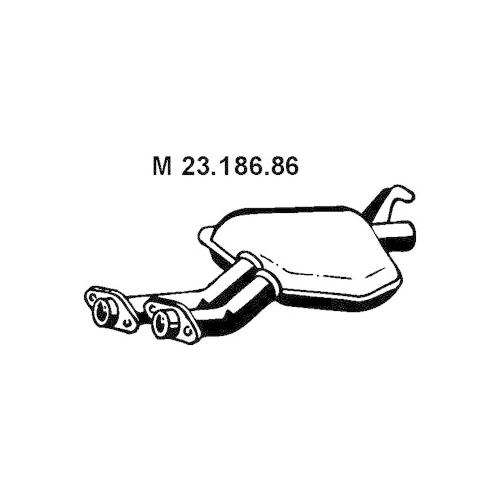 Middle Silencer EBERSPÄCHER 23.186.86 MERCEDES-BENZ